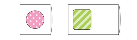 タトウ式の窓ありパッケージ例