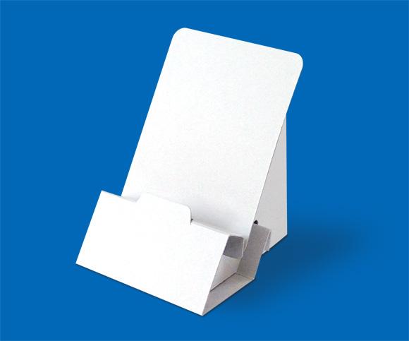 オリジナルのノベルティ・紙製スマホスタンド(無地)