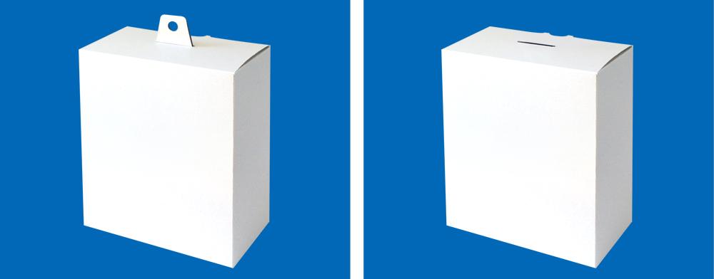 フック穴が出し入れ可能なフック穴付きの箱(吊り下げ箱)