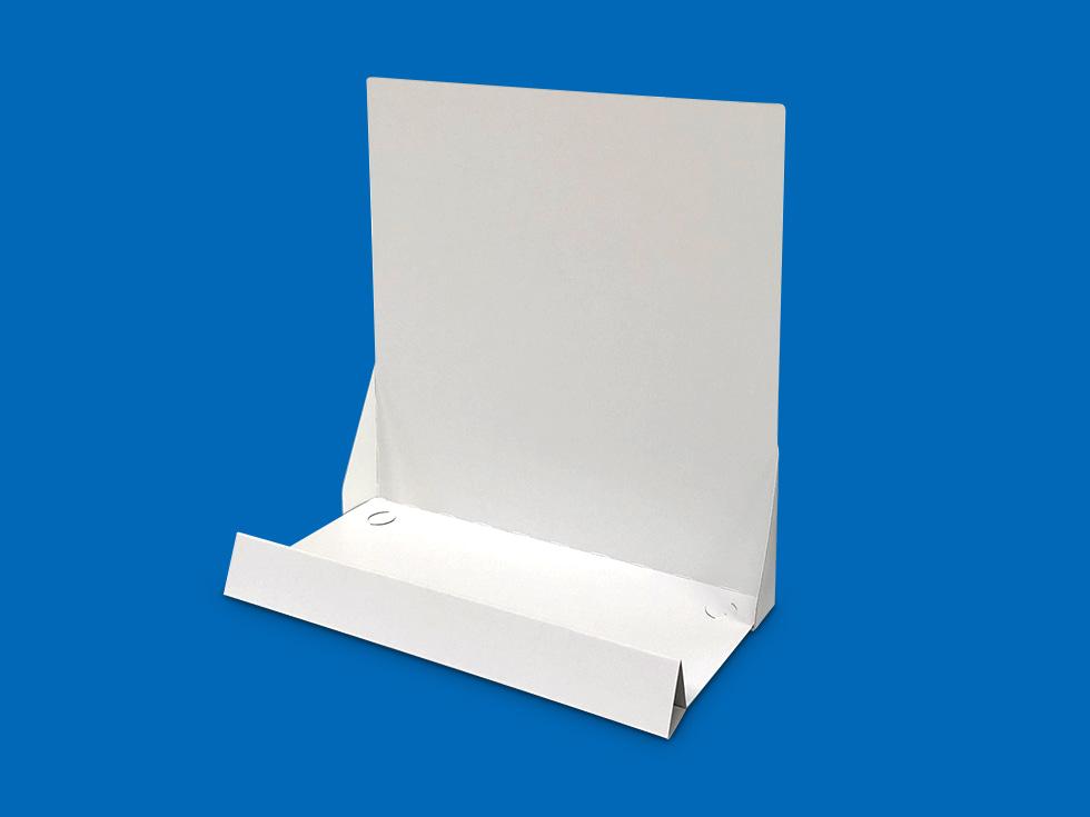 商品を陳列・展示するための紙製 平置き什器