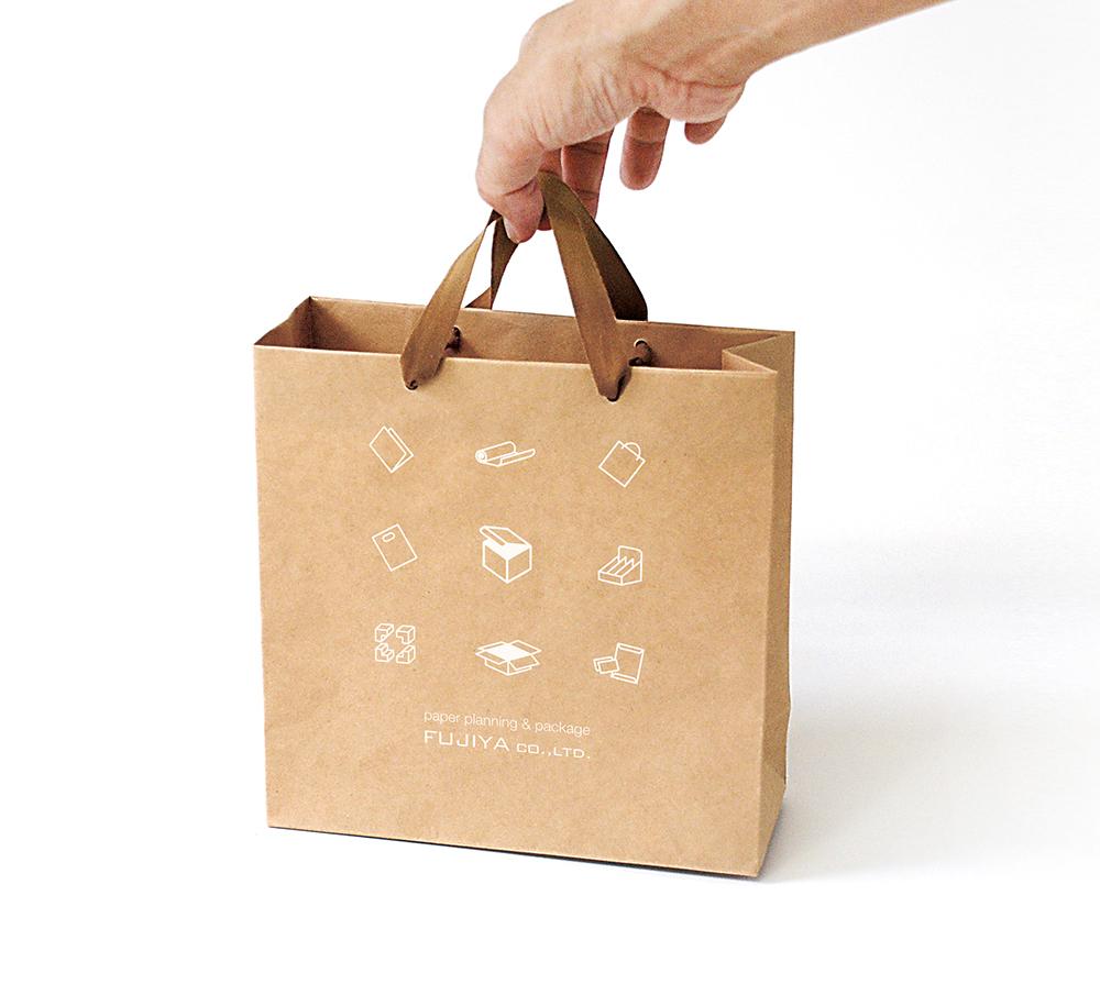 繰り返し使用できる紙袋